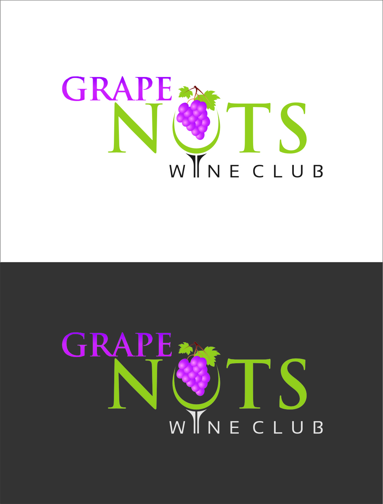 Logo Design by RasYa Muhammad Athaya - Entry No. 99 in the Logo Design Contest Artistic Logo Design for Grape Nuts Wine Club.