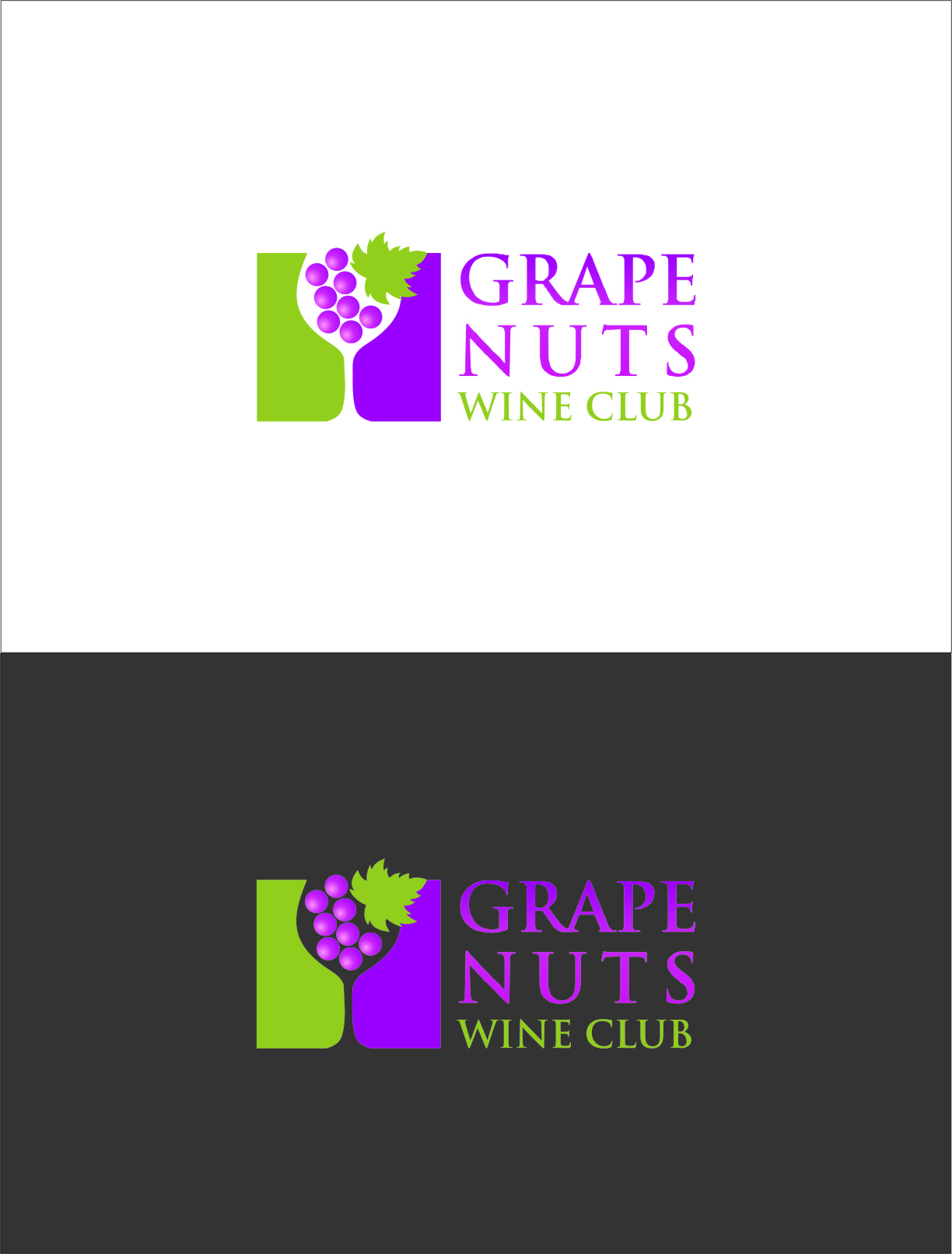 Logo Design by RasYa Muhammad Athaya - Entry No. 102 in the Logo Design Contest Artistic Logo Design for Grape Nuts Wine Club.