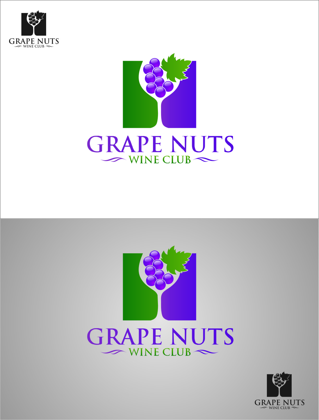 Logo Design by RasYa Muhammad Athaya - Entry No. 104 in the Logo Design Contest Artistic Logo Design for Grape Nuts Wine Club.