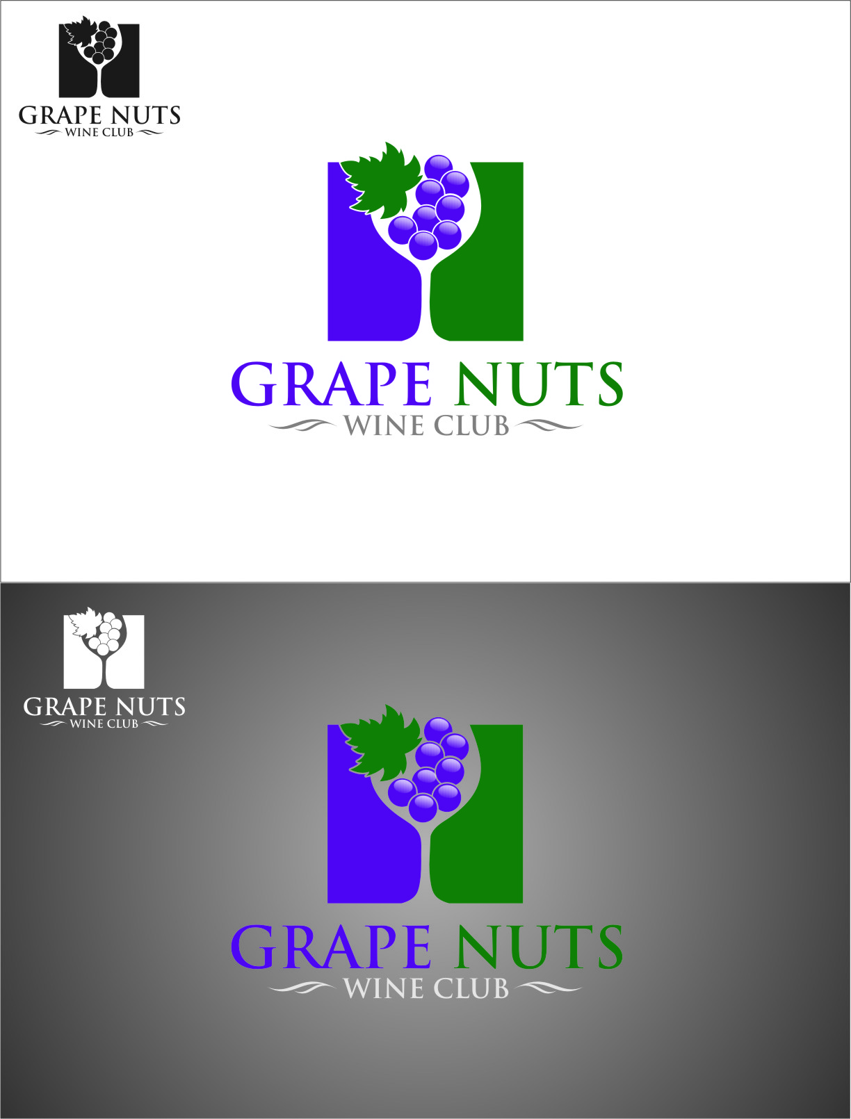 Logo Design by Ngepet_art - Entry No. 105 in the Logo Design Contest Artistic Logo Design for Grape Nuts Wine Club.