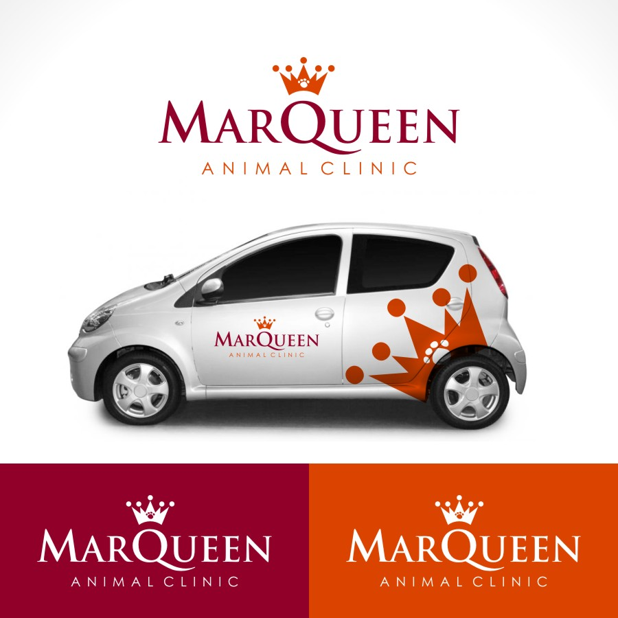 Logo Design by Private User - Entry No. 33 in the Logo Design Contest Fun Logo Design for MarQueen Animal Clinic.