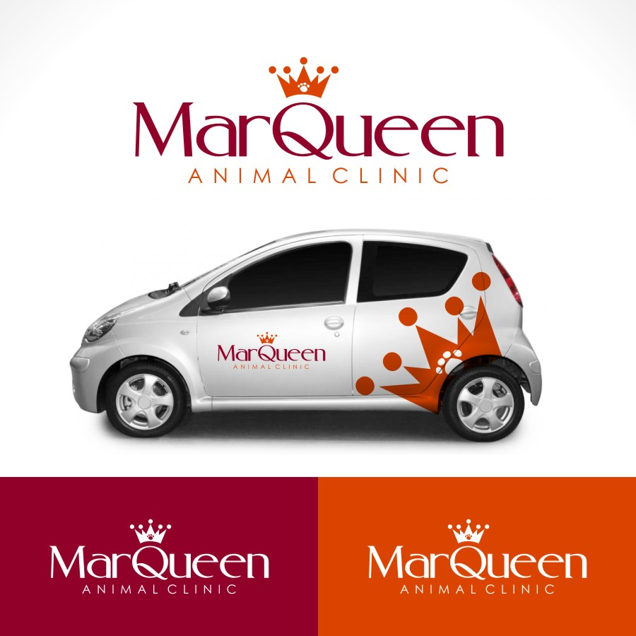 Logo Design by Private User - Entry No. 35 in the Logo Design Contest Fun Logo Design for MarQueen Animal Clinic.