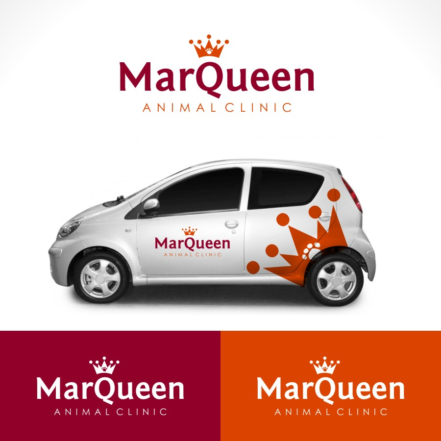Logo Design by Private User - Entry No. 36 in the Logo Design Contest Fun Logo Design for MarQueen Animal Clinic.