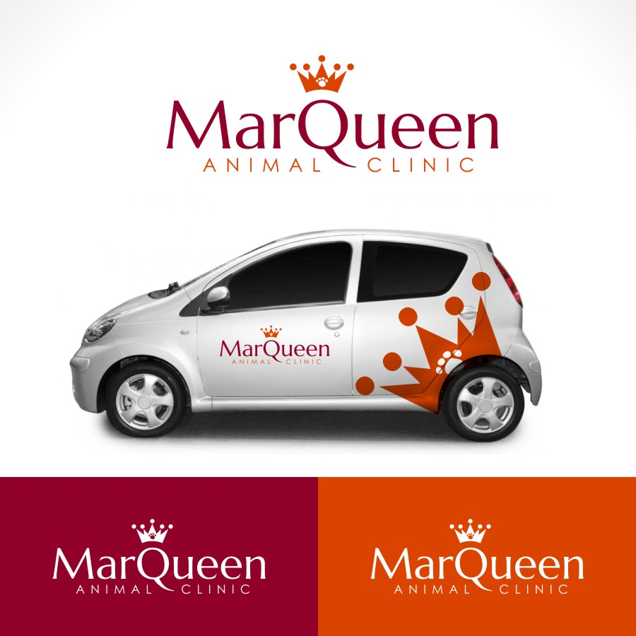 Logo Design by Private User - Entry No. 37 in the Logo Design Contest Fun Logo Design for MarQueen Animal Clinic.