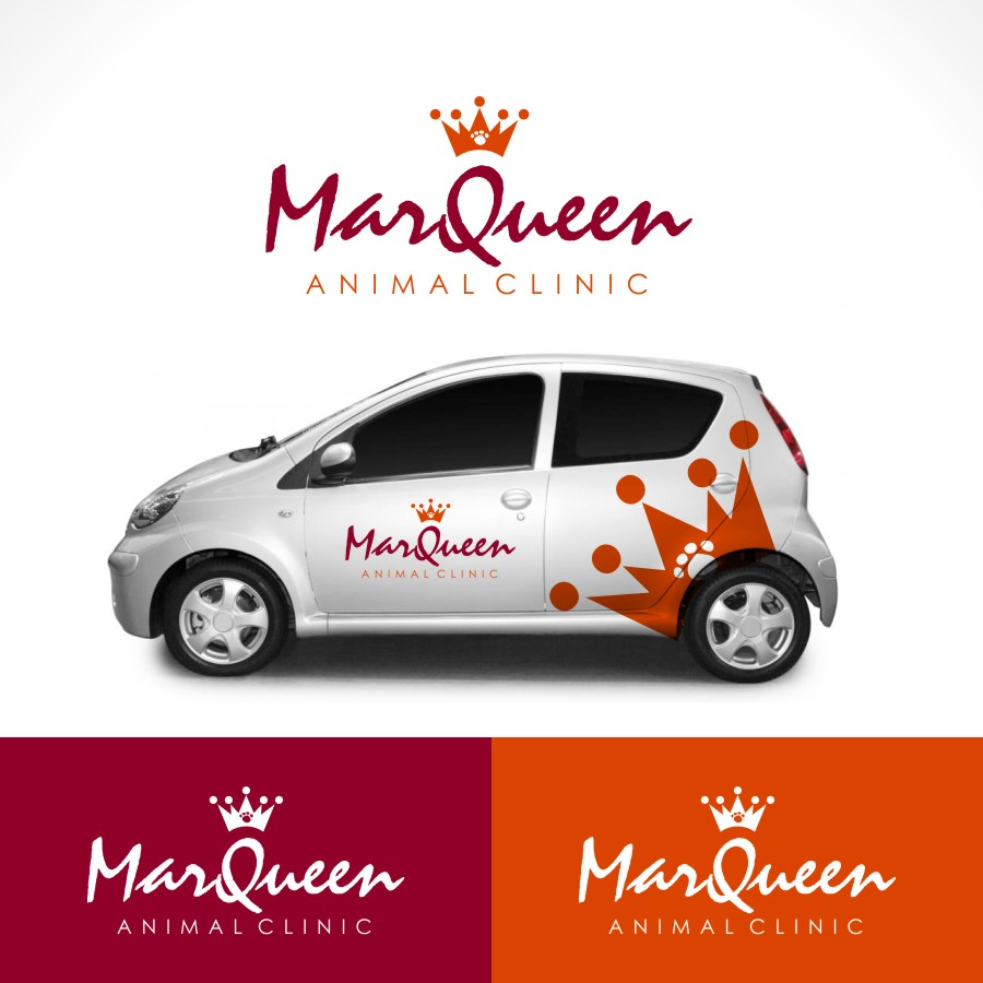 Logo Design by Private User - Entry No. 38 in the Logo Design Contest Fun Logo Design for MarQueen Animal Clinic.