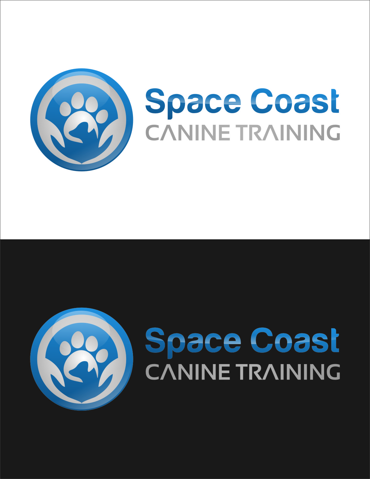 Logo Design by RoSyid Rono-Rene On Java - Entry No. 56 in the Logo Design Contest Creative Logo Design for Space Coast Canine Training.