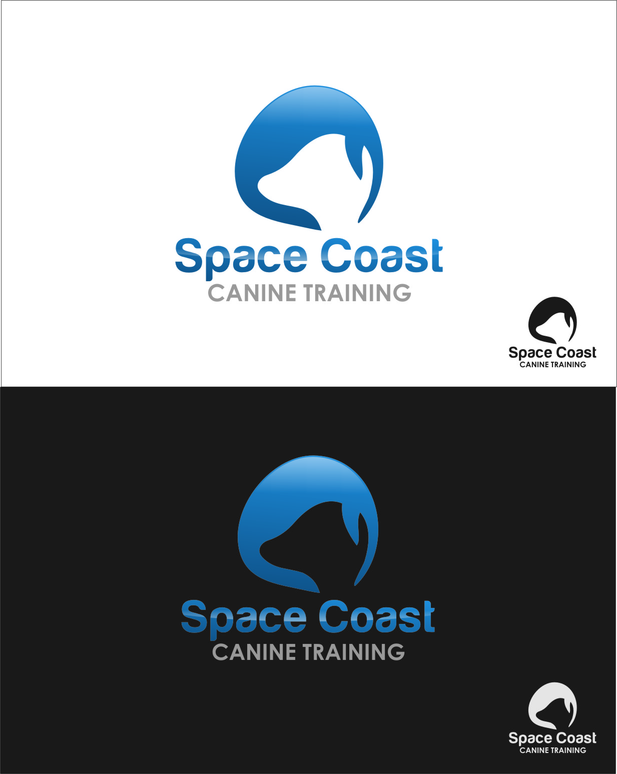 Logo Design by Ngepet_art - Entry No. 57 in the Logo Design Contest Creative Logo Design for Space Coast Canine Training.