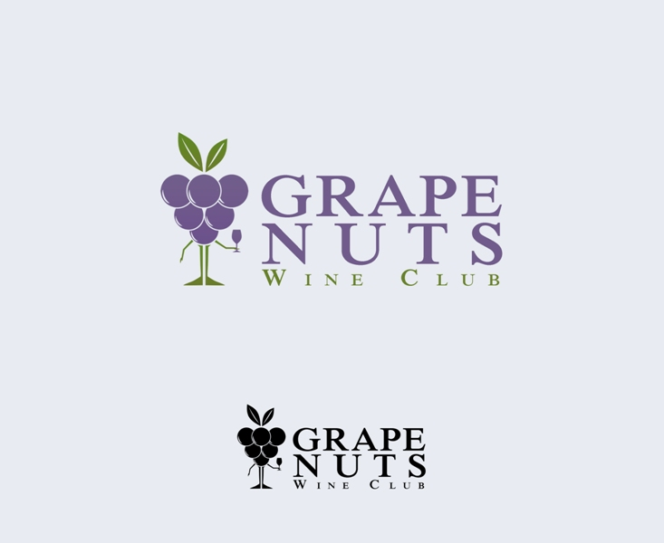 Logo Design by Juan_Kata - Entry No. 107 in the Logo Design Contest Artistic Logo Design for Grape Nuts Wine Club.