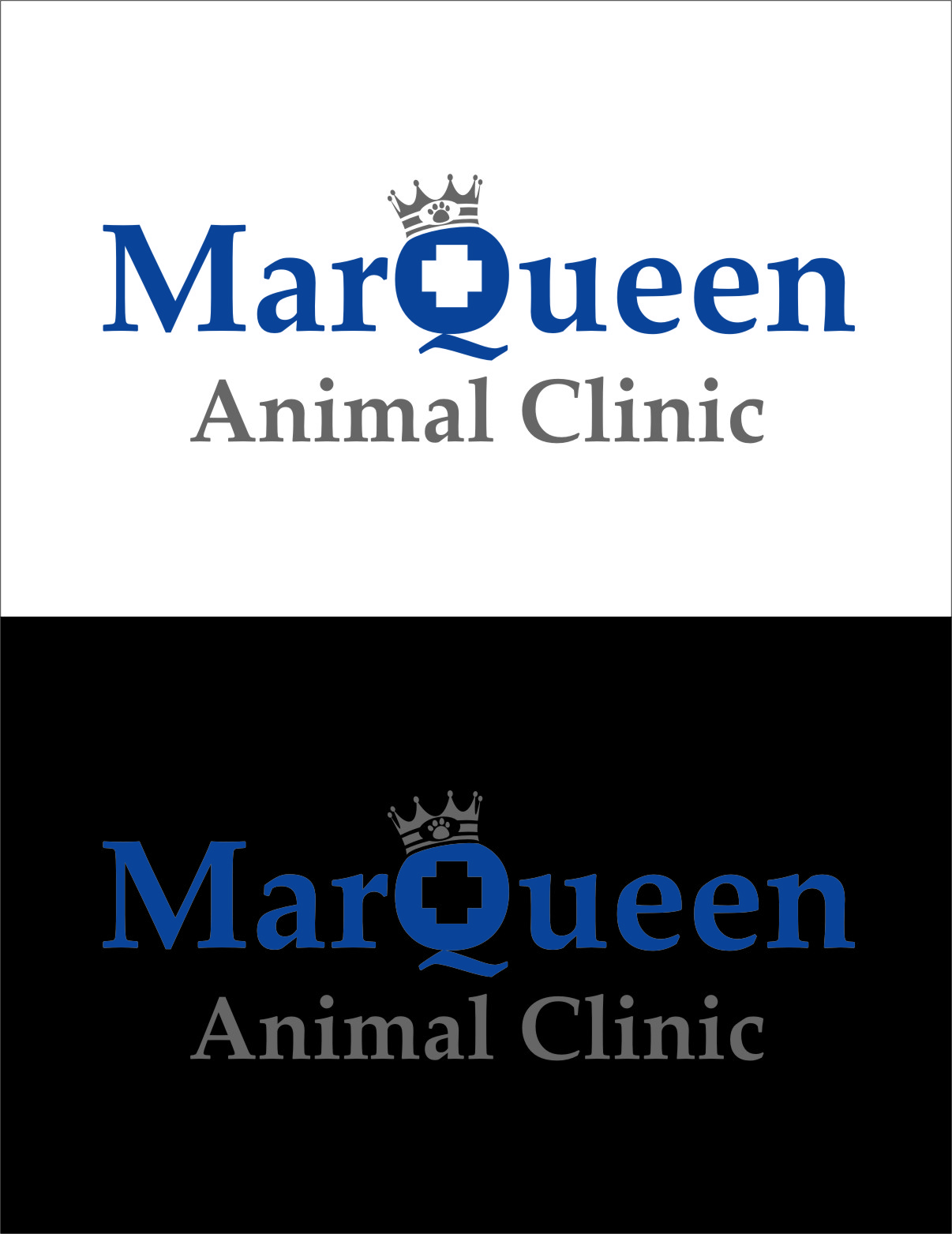 Logo Design by RasYa Muhammad Athaya - Entry No. 39 in the Logo Design Contest Fun Logo Design for MarQueen Animal Clinic.