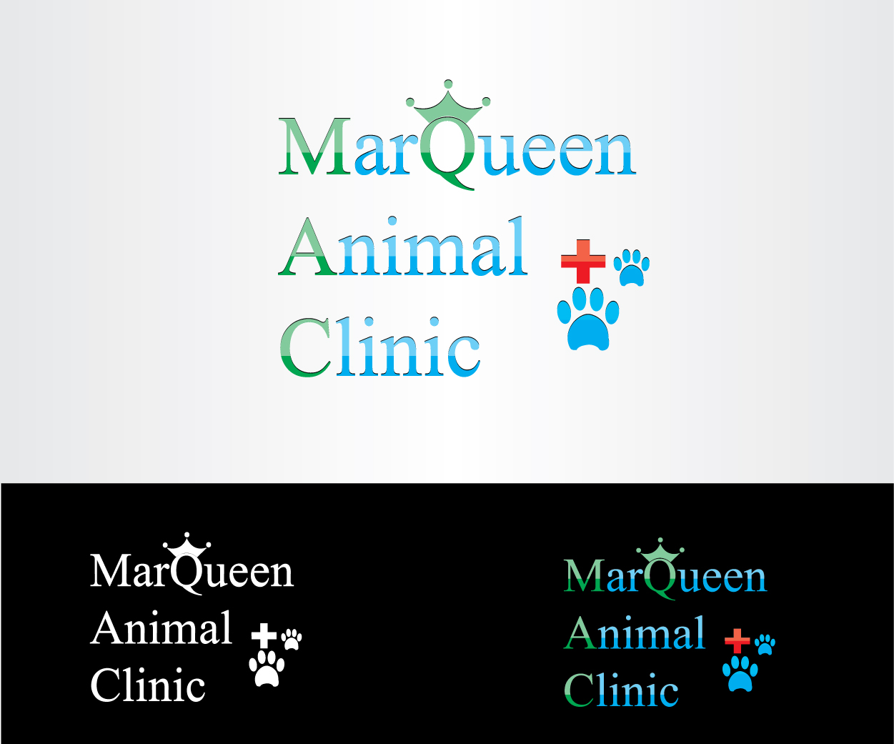 Logo Design by Private User - Entry No. 41 in the Logo Design Contest Fun Logo Design for MarQueen Animal Clinic.