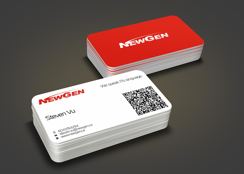 Business Card Design by Private User - Entry No. 114 in the Business Card Design Contest Inspiring Business Card Design for NewGen Technologies.
