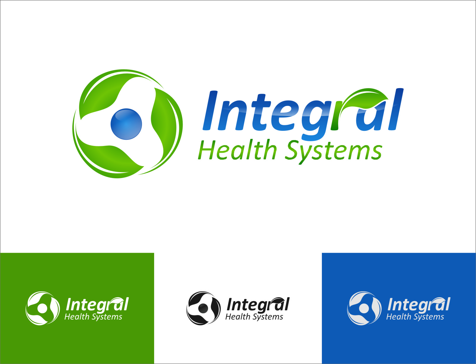 Logo Design by RasYa Muhammad Athaya - Entry No. 131 in the Logo Design Contest Unique Logo Design Wanted for Integral Health Systems.