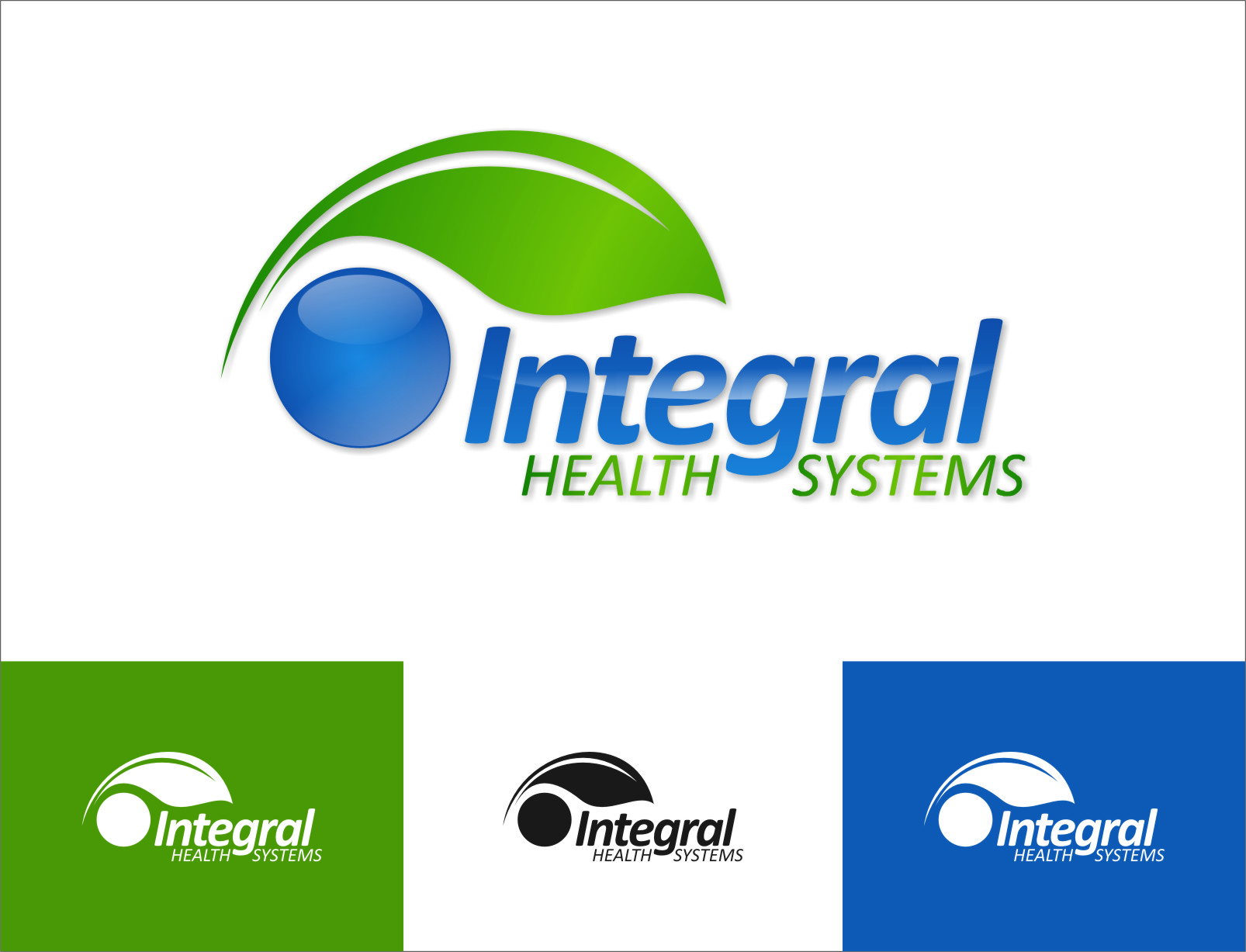 Logo Design by RasYa Muhammad Athaya - Entry No. 132 in the Logo Design Contest Unique Logo Design Wanted for Integral Health Systems.