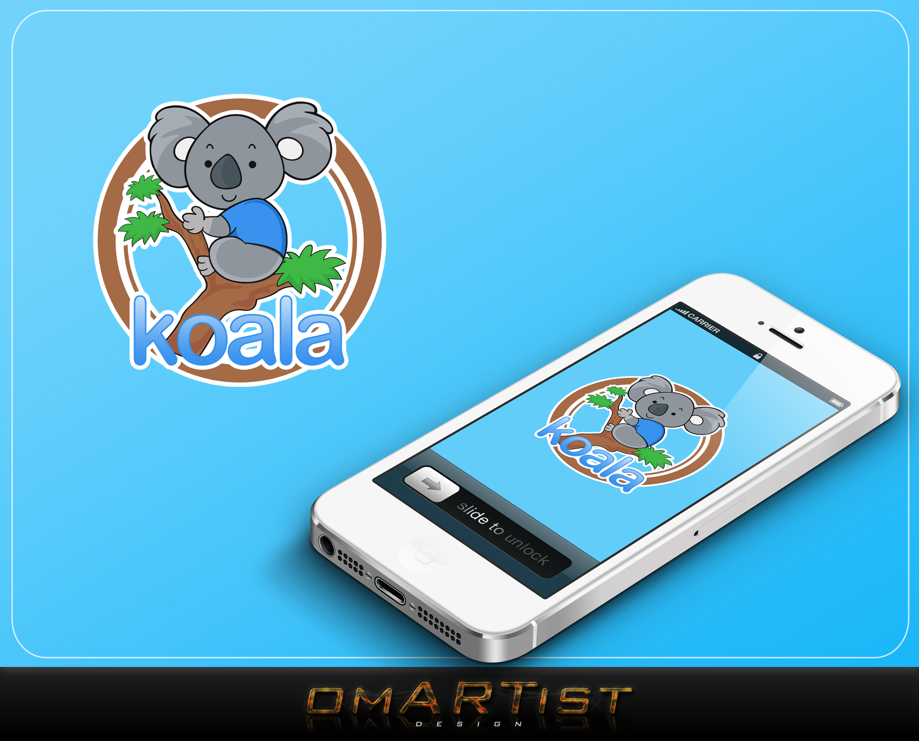 "Logo Design by omARTist - Entry No. 109 in the Logo Design Contest Imaginative Logo Design for ""Koala""."