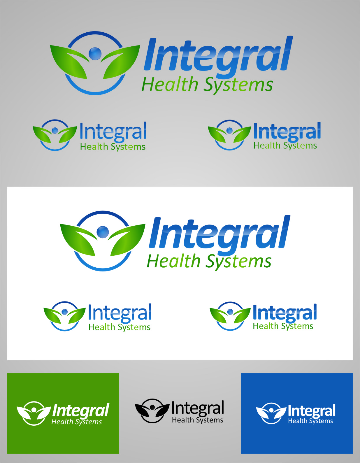 Logo Design by RasYa Muhammad Athaya - Entry No. 134 in the Logo Design Contest Unique Logo Design Wanted for Integral Health Systems.