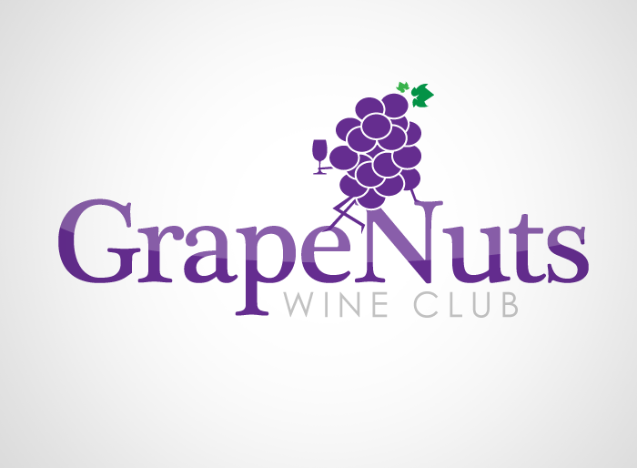 Logo Design by Jan Chua - Entry No. 110 in the Logo Design Contest Artistic Logo Design for Grape Nuts Wine Club.