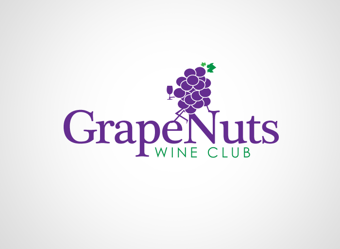 Logo Design by Jan Chua - Entry No. 111 in the Logo Design Contest Artistic Logo Design for Grape Nuts Wine Club.