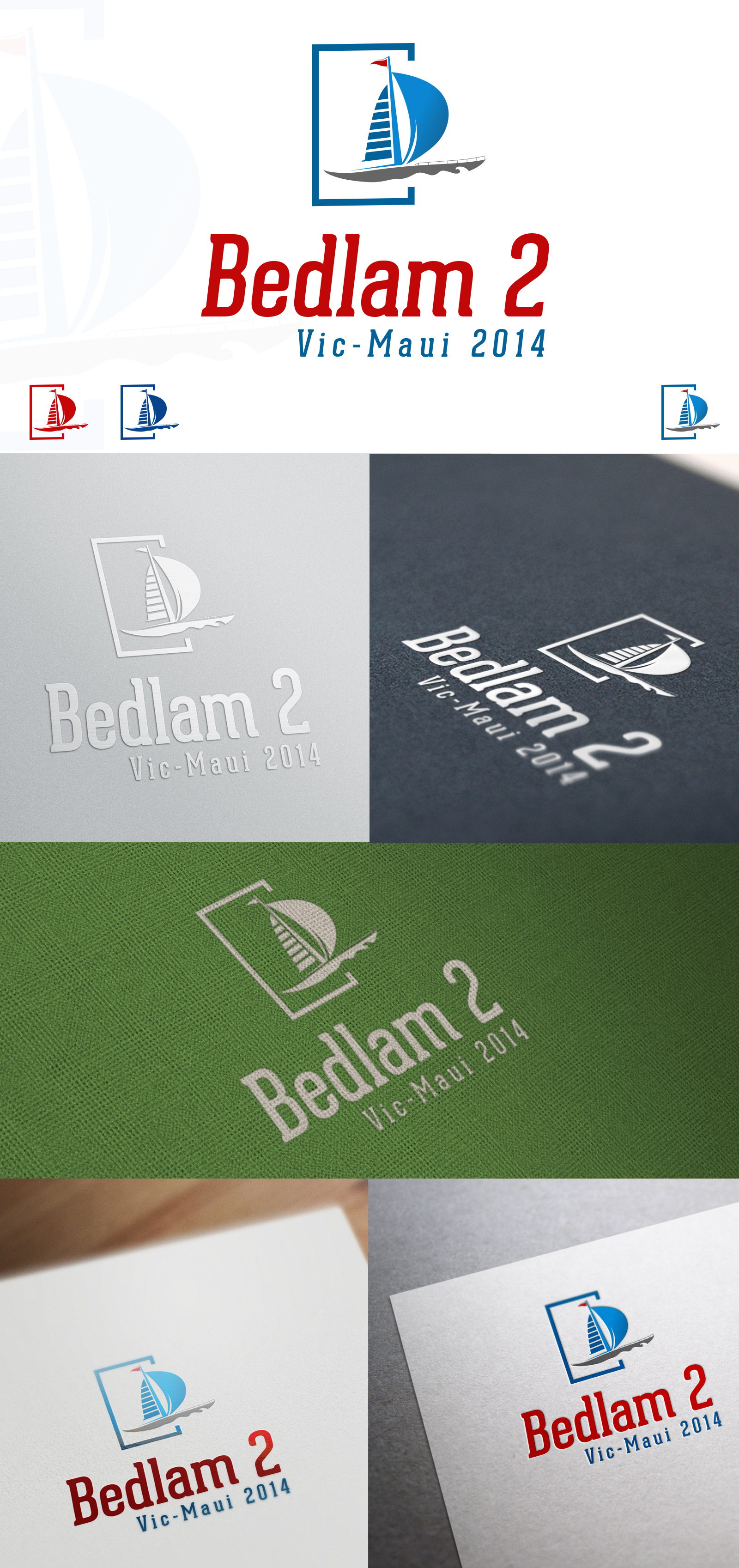 Logo Design by olii - Entry No. 41 in the Logo Design Contest Artistic Logo Design for Bedlam 2  Vic-Maui 2014.