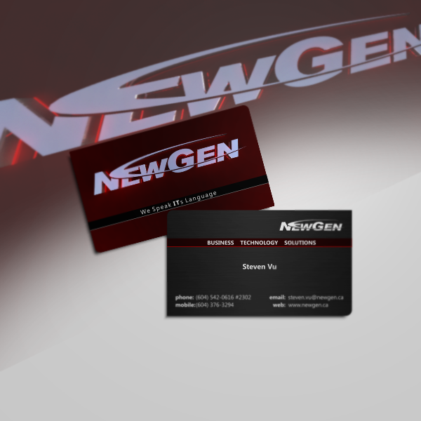 Business Card Design by Private User - Entry No. 120 in the Business Card Design Contest Inspiring Business Card Design for NewGen Technologies.