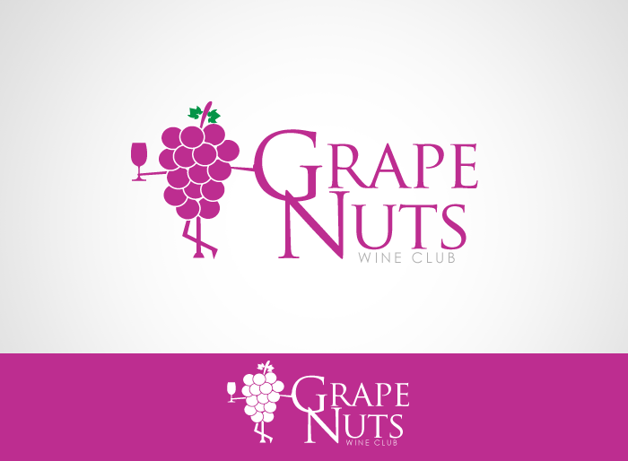 Logo Design by Jan Chua - Entry No. 112 in the Logo Design Contest Artistic Logo Design for Grape Nuts Wine Club.