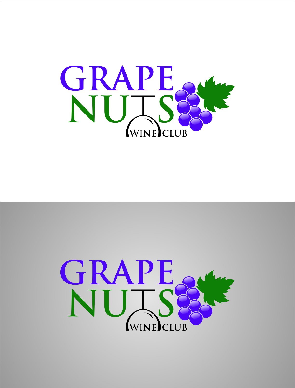 Logo Design by RasYa Muhammad Athaya - Entry No. 113 in the Logo Design Contest Artistic Logo Design for Grape Nuts Wine Club.