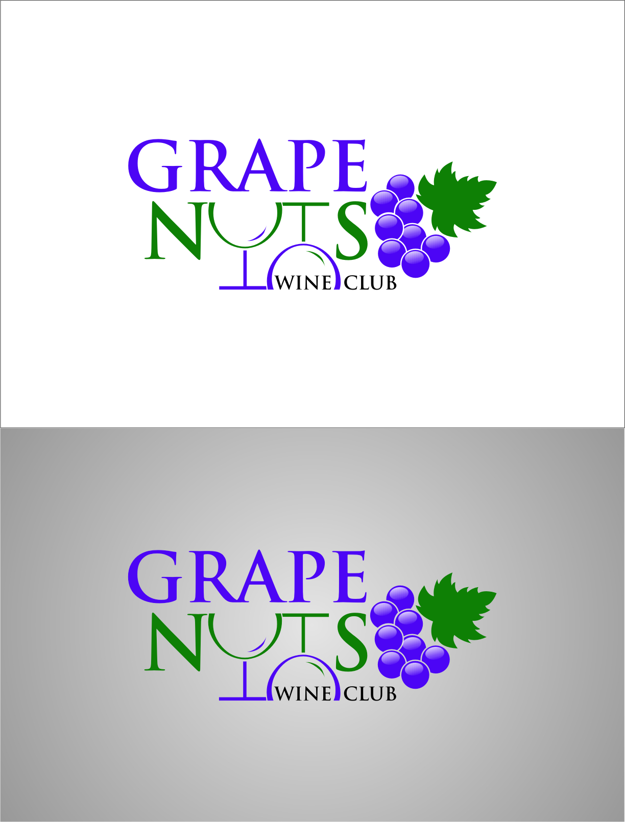Logo Design by Ngepet_art - Entry No. 114 in the Logo Design Contest Artistic Logo Design for Grape Nuts Wine Club.
