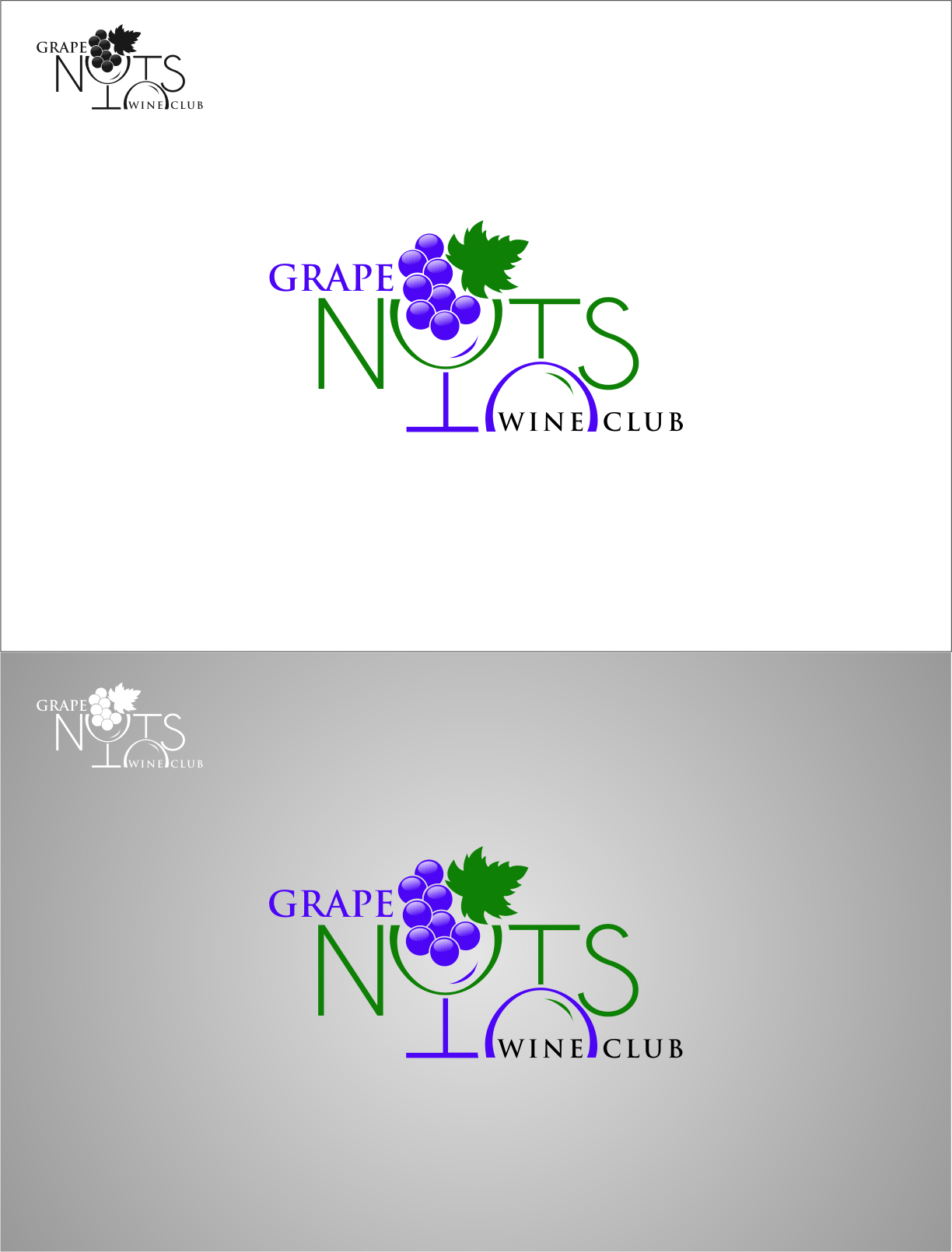Logo Design by RasYa Muhammad Athaya - Entry No. 115 in the Logo Design Contest Artistic Logo Design for Grape Nuts Wine Club.