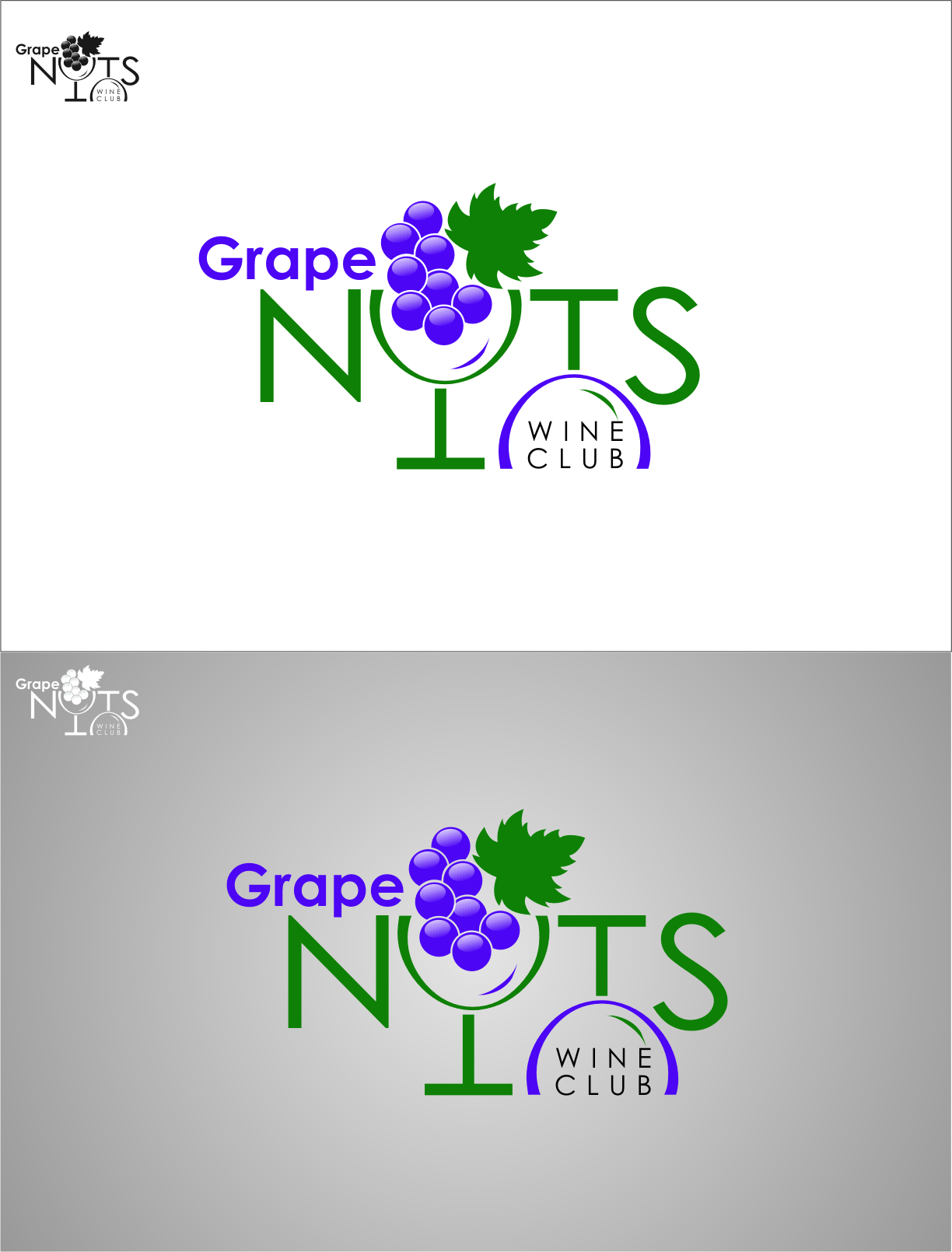 Logo Design by RoSyid Rono-Rene On Java - Entry No. 116 in the Logo Design Contest Artistic Logo Design for Grape Nuts Wine Club.