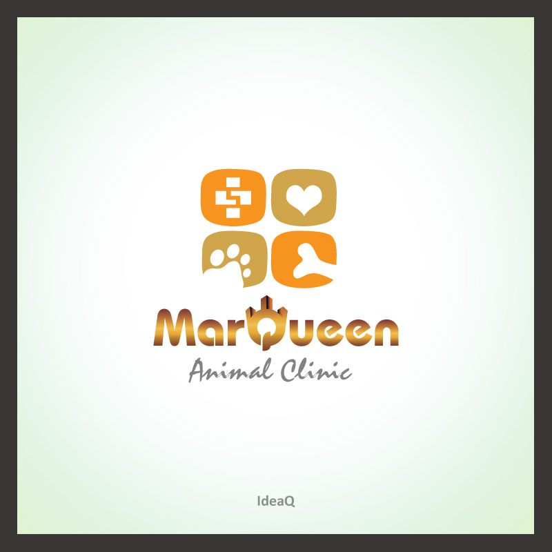 Logo Design by Private User - Entry No. 53 in the Logo Design Contest Fun Logo Design for MarQueen Animal Clinic.