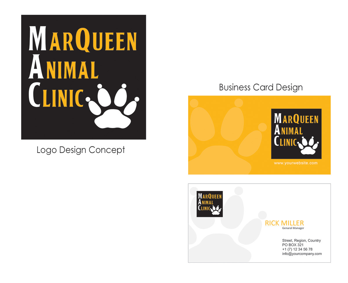 Logo Design by Sai Prathik - Entry No. 54 in the Logo Design Contest Fun Logo Design for MarQueen Animal Clinic.