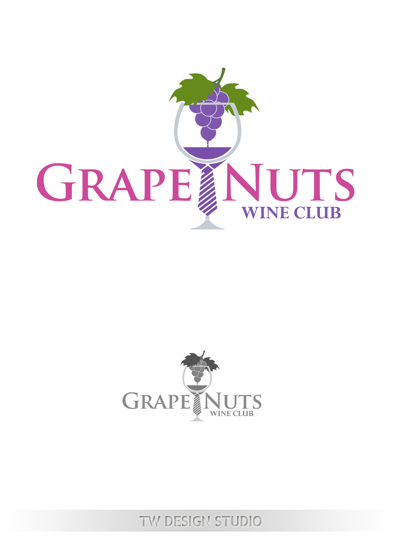 Logo Design by Private User - Entry No. 125 in the Logo Design Contest Artistic Logo Design for Grape Nuts Wine Club.