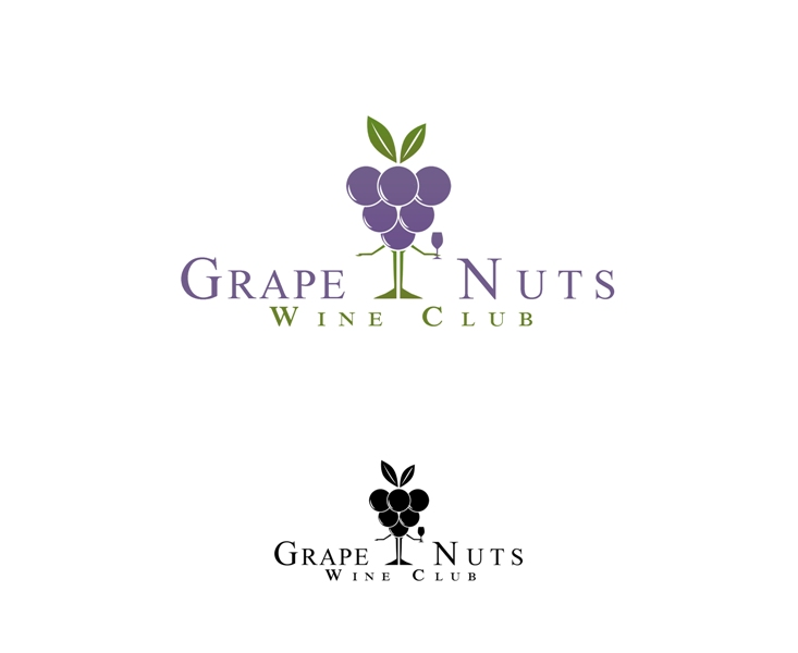 Logo Design by Juan_Kata - Entry No. 126 in the Logo Design Contest Artistic Logo Design for Grape Nuts Wine Club.