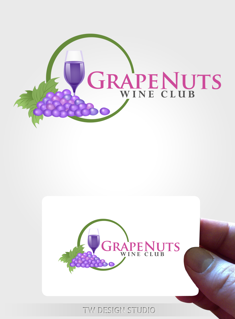 Logo Design by Robert Turla - Entry No. 127 in the Logo Design Contest Artistic Logo Design for Grape Nuts Wine Club.