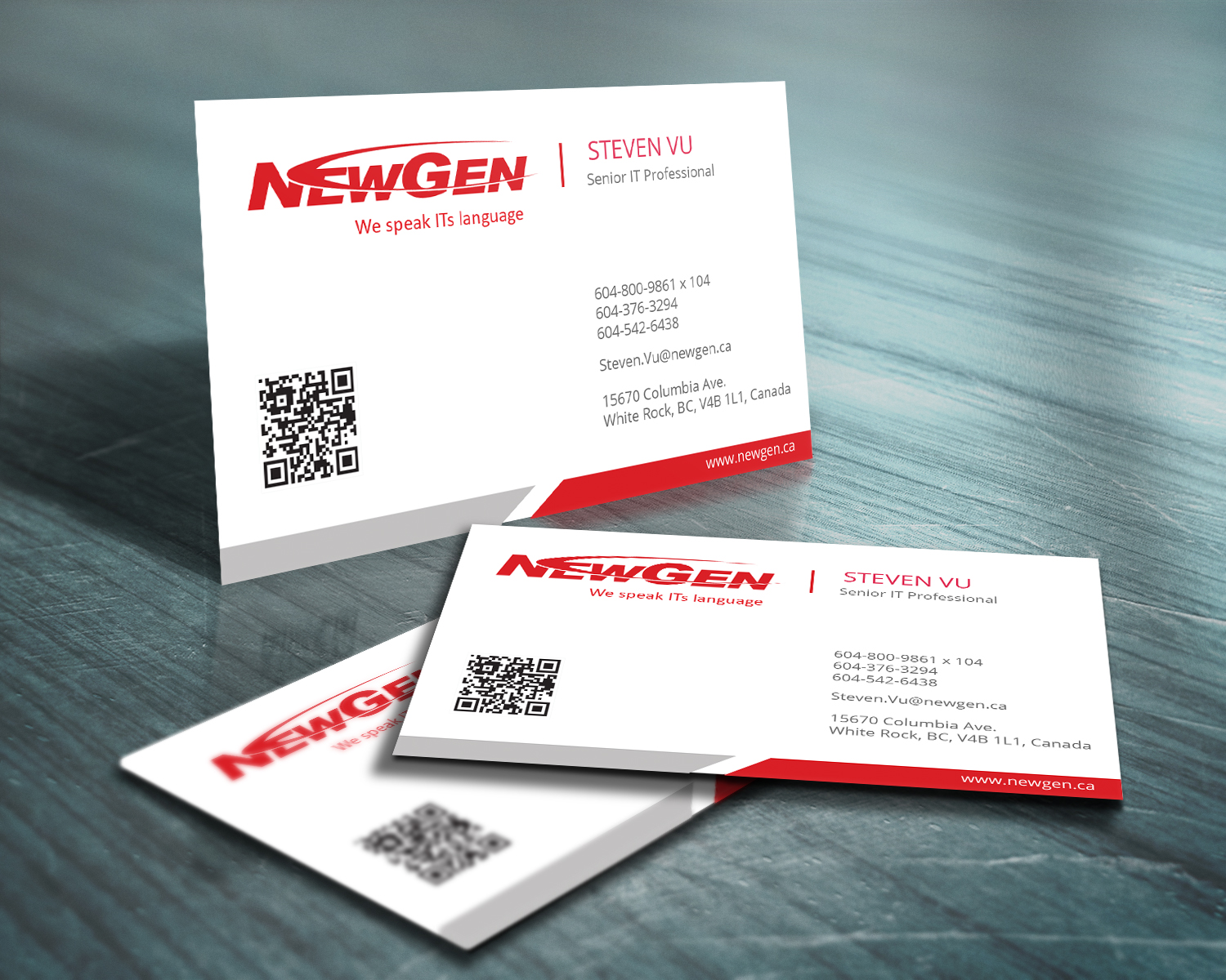 Business Card Design by Emad A Zyed - Entry No. 127 in the Business Card Design Contest Inspiring Business Card Design for NewGen Technologies.