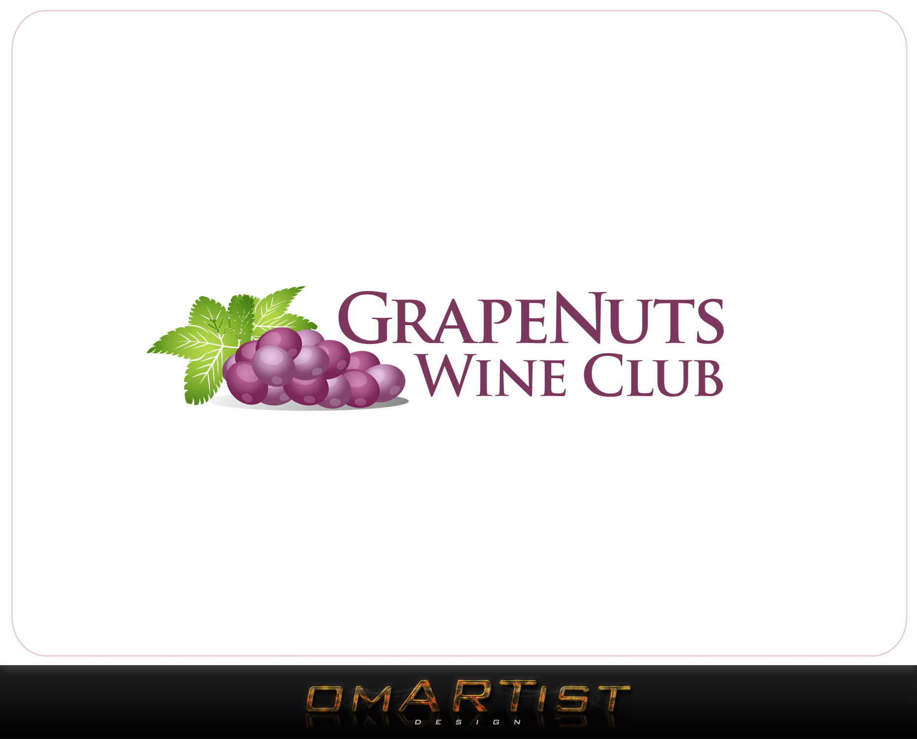Logo Design by omARTist - Entry No. 129 in the Logo Design Contest Artistic Logo Design for Grape Nuts Wine Club.