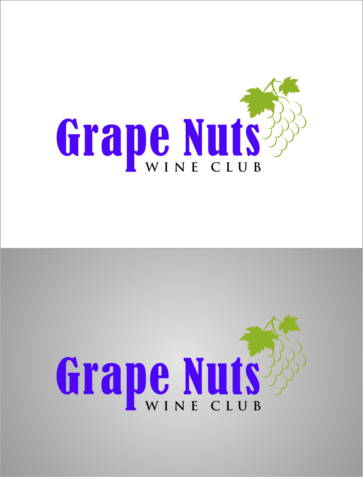 Logo Design by RasYa Muhammad Athaya - Entry No. 130 in the Logo Design Contest Artistic Logo Design for Grape Nuts Wine Club.