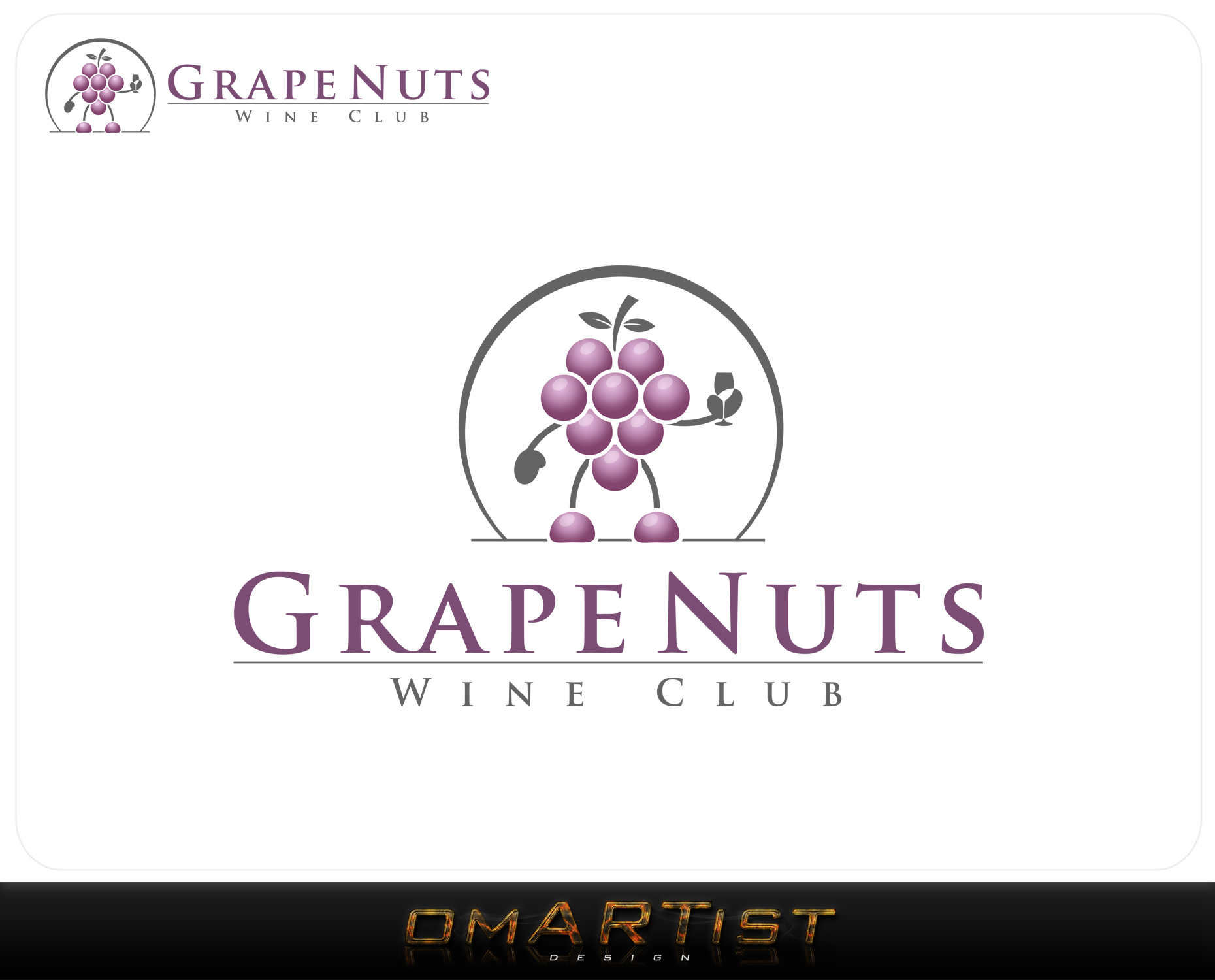 Logo Design by omARTist - Entry No. 135 in the Logo Design Contest Artistic Logo Design for Grape Nuts Wine Club.
