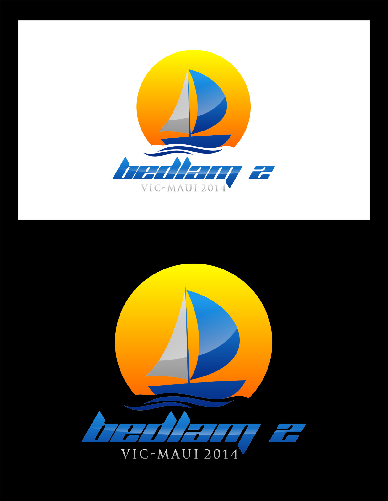 Logo Design by RasYa Muhammad Athaya - Entry No. 46 in the Logo Design Contest Artistic Logo Design for Bedlam 2  Vic-Maui 2014.