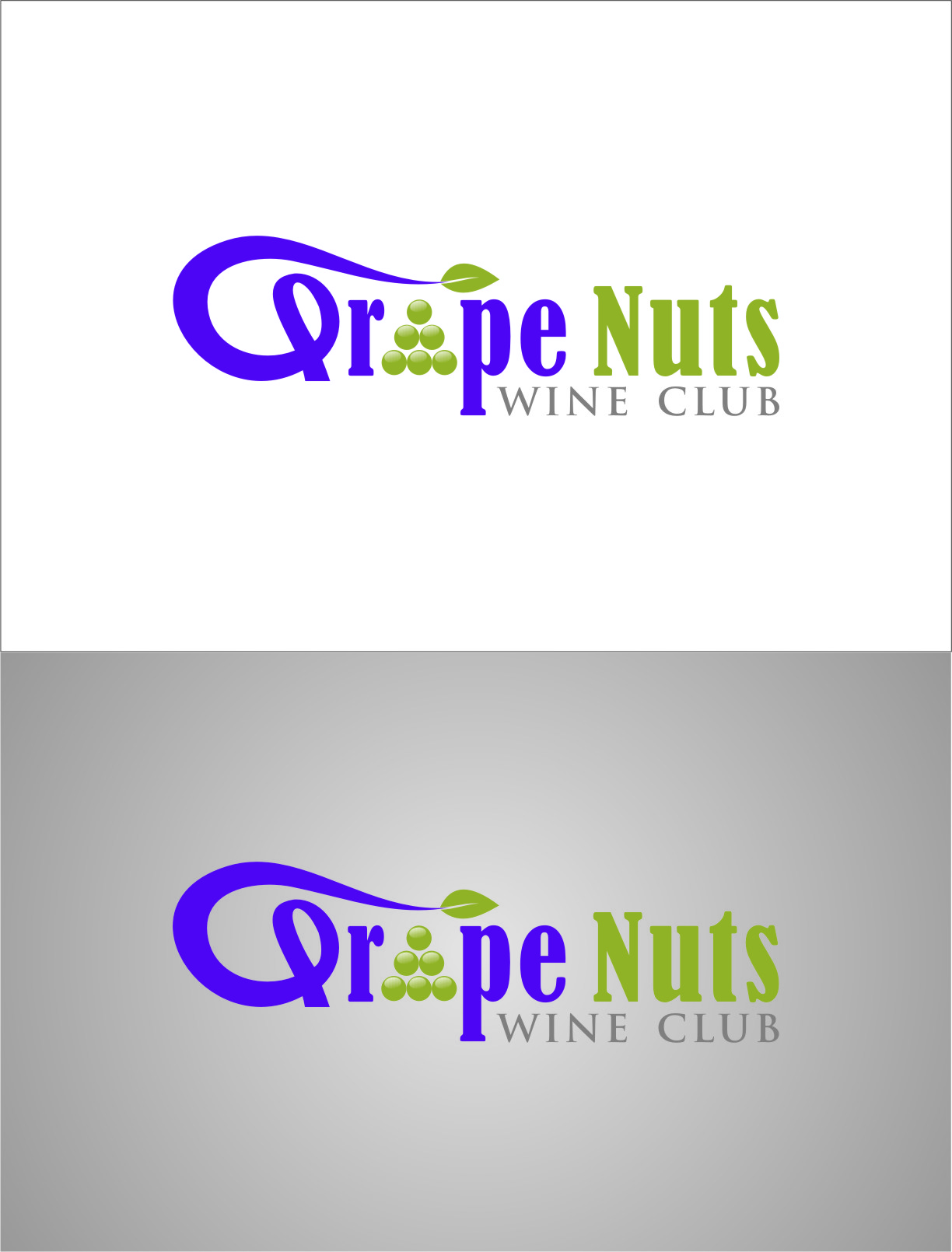 Logo Design by RasYa Muhammad Athaya - Entry No. 136 in the Logo Design Contest Artistic Logo Design for Grape Nuts Wine Club.