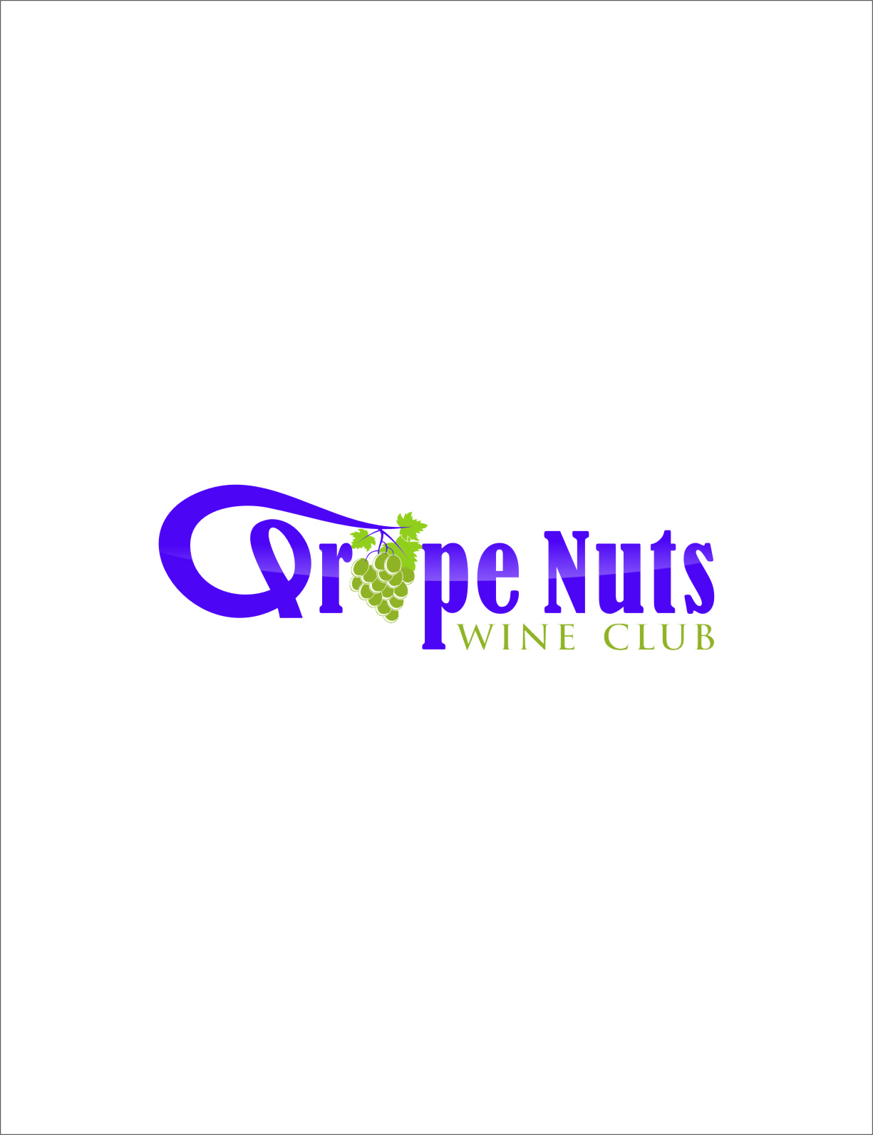 Logo Design by RasYa Muhammad Athaya - Entry No. 137 in the Logo Design Contest Artistic Logo Design for Grape Nuts Wine Club.