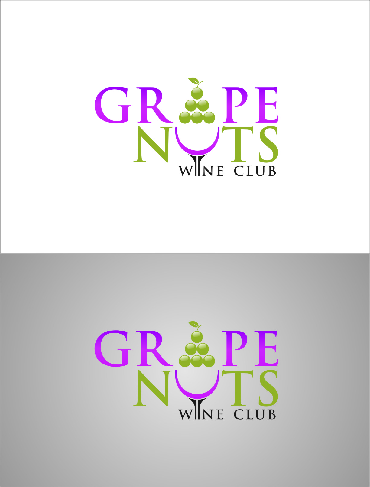 Logo Design by Ngepet_art - Entry No. 138 in the Logo Design Contest Artistic Logo Design for Grape Nuts Wine Club.