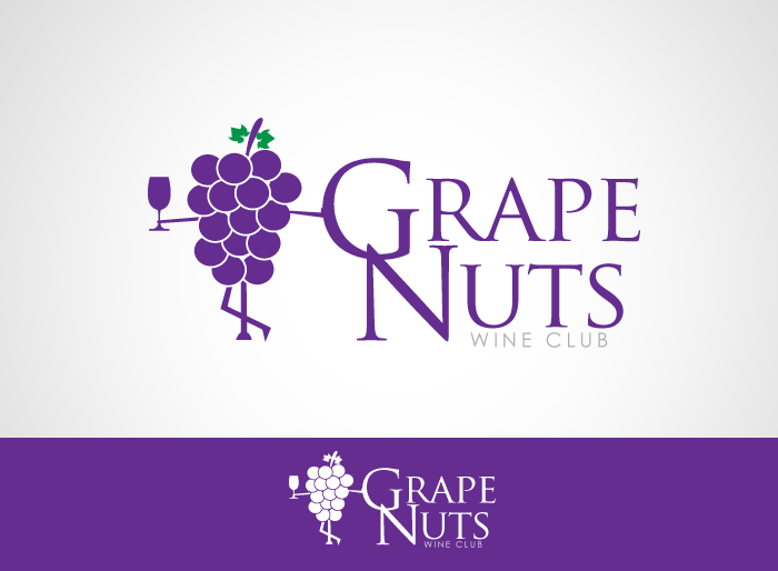 Logo Design by Jan Chua - Entry No. 139 in the Logo Design Contest Artistic Logo Design for Grape Nuts Wine Club.