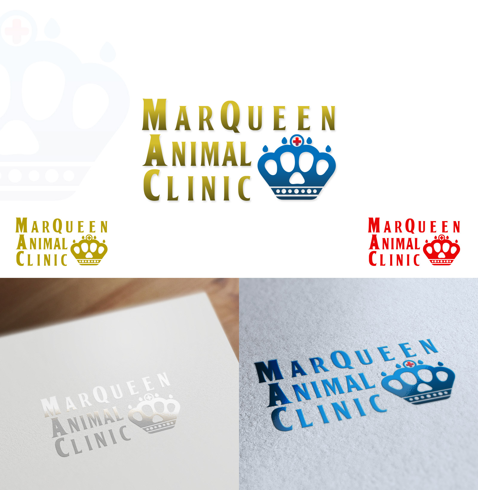 Logo Design by olii - Entry No. 61 in the Logo Design Contest Fun Logo Design for MarQueen Animal Clinic.