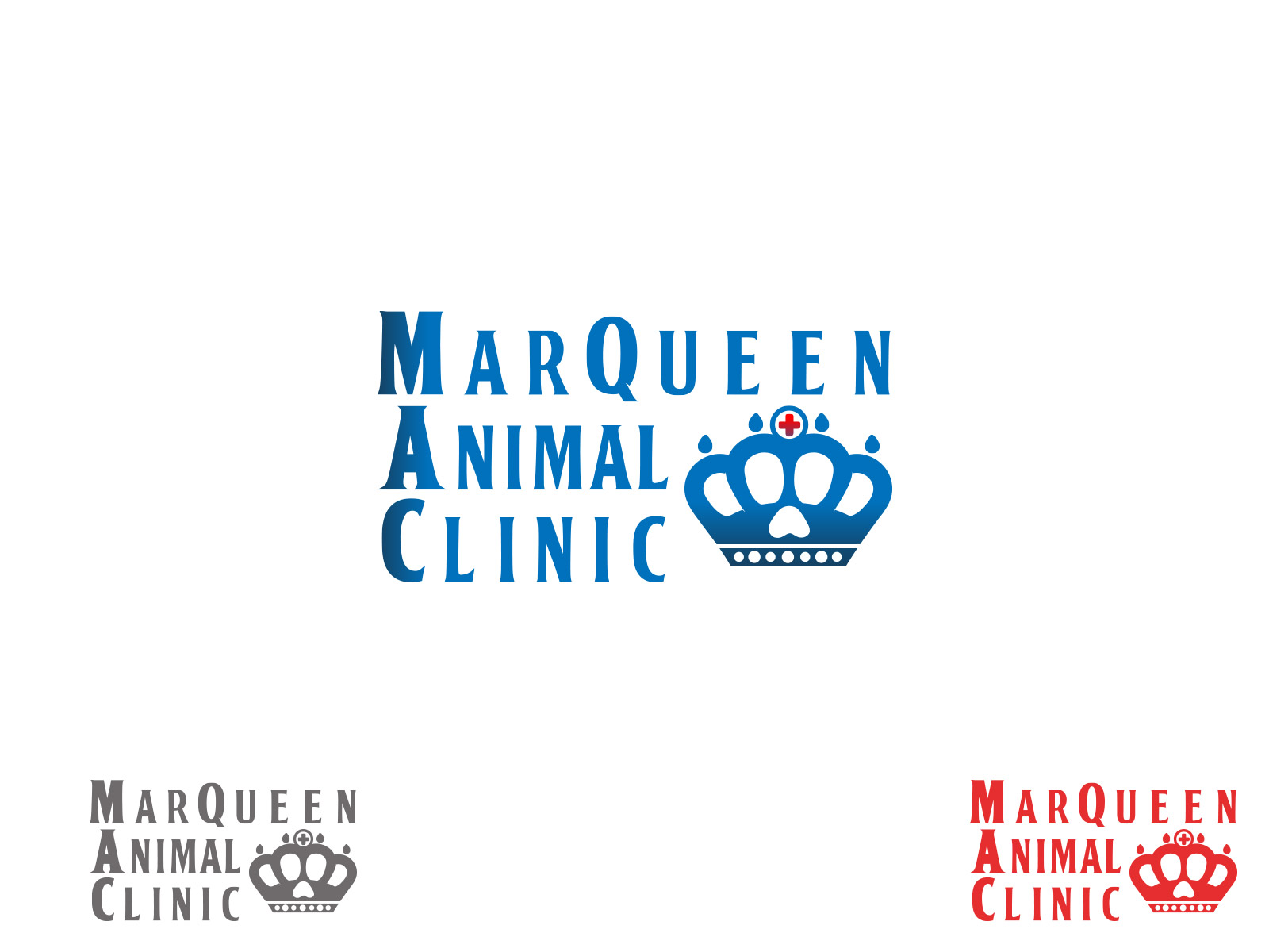 Logo Design by olii - Entry No. 63 in the Logo Design Contest Fun Logo Design for MarQueen Animal Clinic.