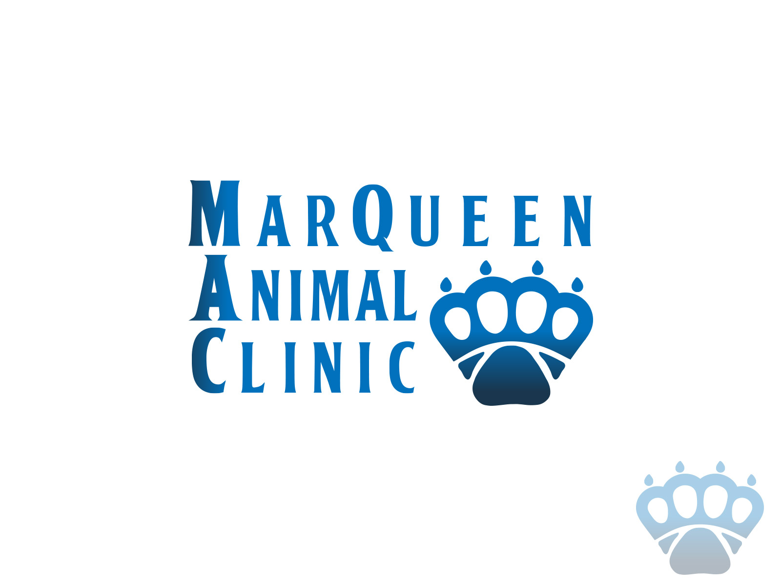 Logo Design by olii - Entry No. 67 in the Logo Design Contest Fun Logo Design for MarQueen Animal Clinic.