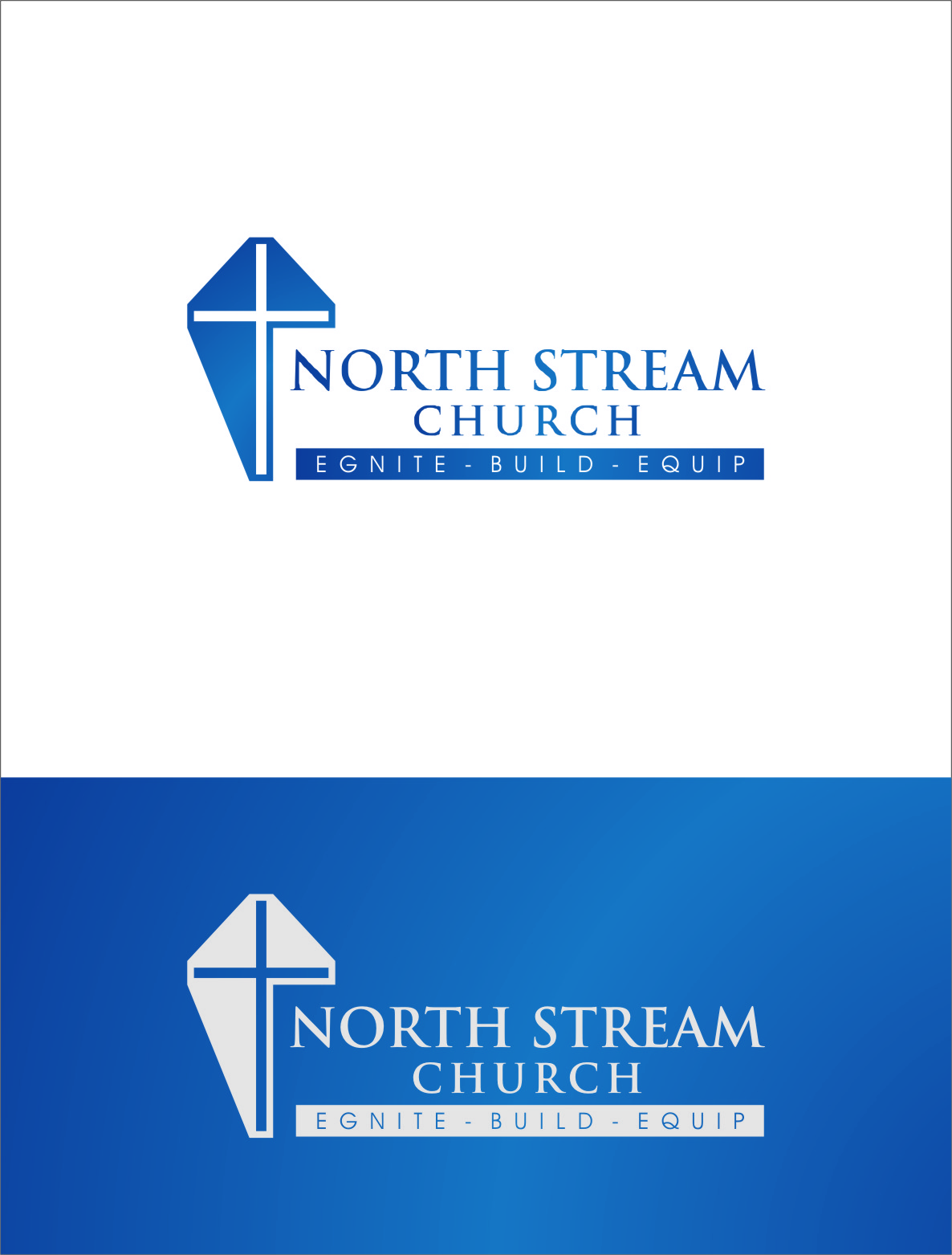 Logo Design by RasYa Muhammad Athaya - Entry No. 32 in the Logo Design Contest Creative Logo Design for North Stream Church.