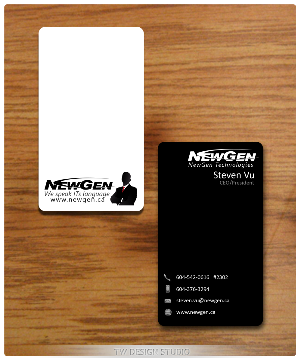 Business Card Design by Private User - Entry No. 141 in the Business Card Design Contest Inspiring Business Card Design for NewGen Technologies.