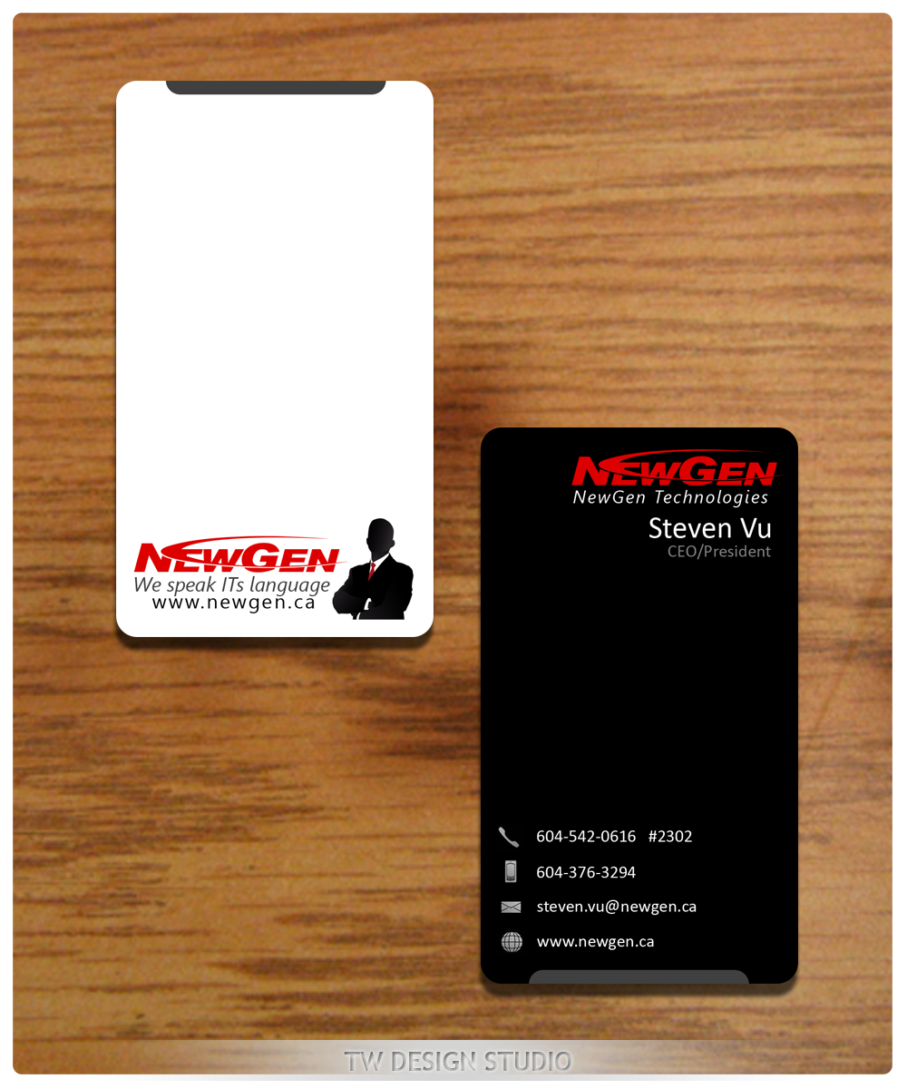 Business Card Design by Private User - Entry No. 144 in the Business Card Design Contest Inspiring Business Card Design for NewGen Technologies.