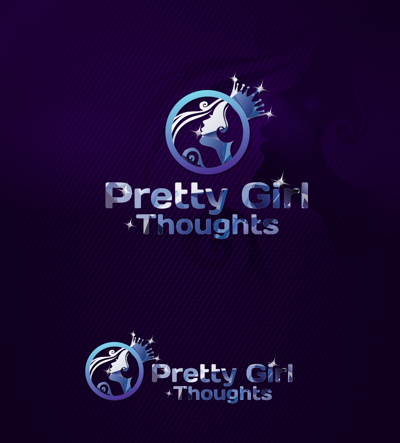 Logo Design by Private User - Entry No. 8 in the Logo Design Contest Inspiring Logo Design for Pretty Girl Thoughts.