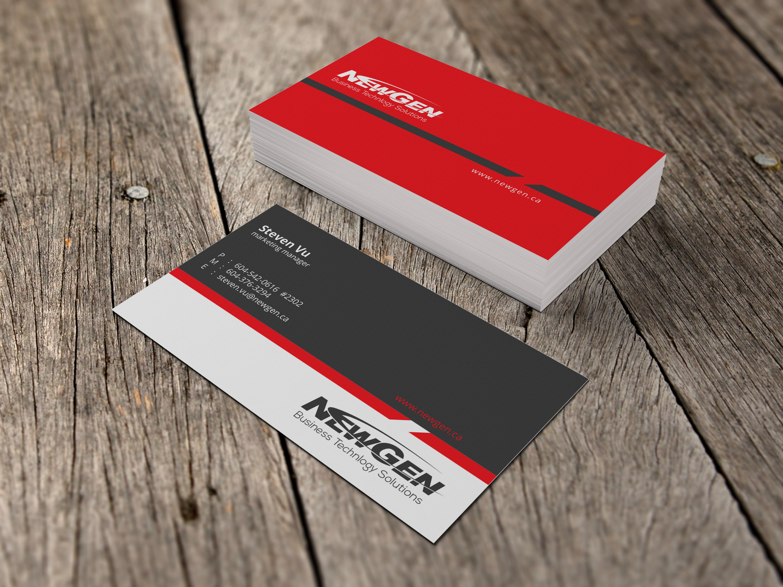 Business Card Design by Sai Prathik - Entry No. 153 in the Business Card Design Contest Inspiring Business Card Design for NewGen Technologies.